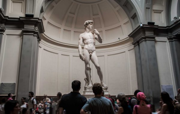 David of Michelangelo in the Accademia gallery