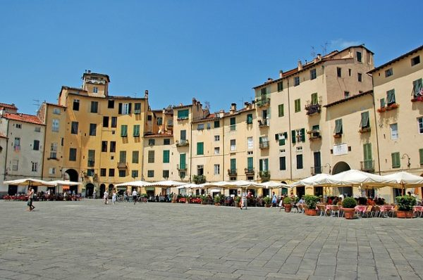 Lucca square in summer