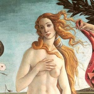 A close up of Botticelli's Venus