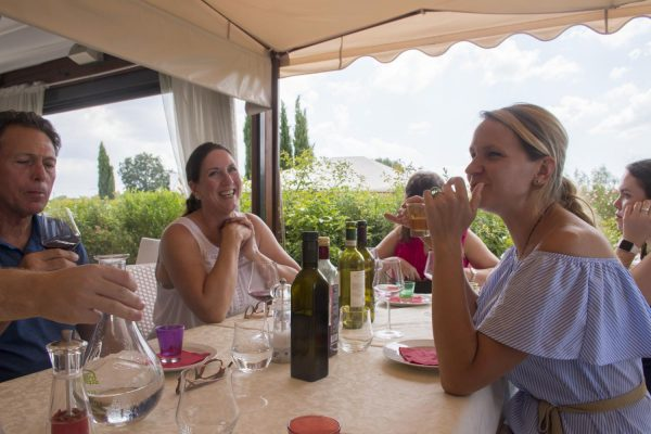 amazing lunch in one of our tuscany tour