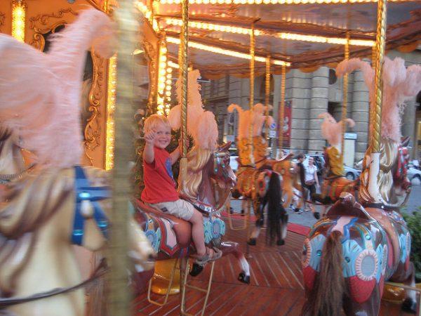 Florence with Kids Carousel Piazza Della Repubblica Art Viva