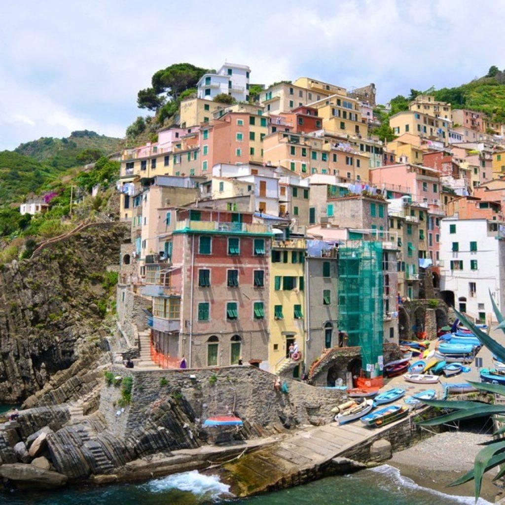 small village in the cinque terre coast