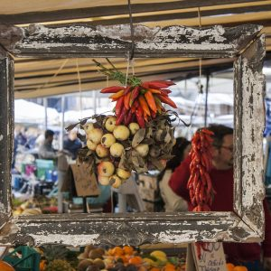explore Italian market in Rome Food and Wine Tour