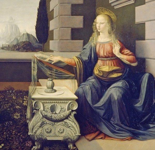 The Annunciation. explore Leonardo masterpieces trough the da Vinci Code Tour