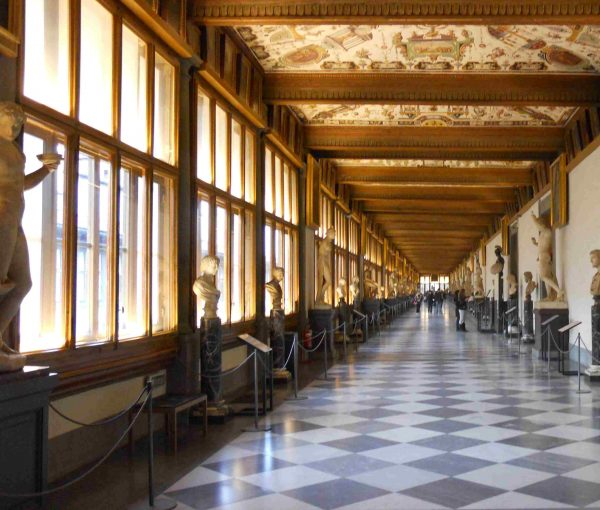 Uffizi gallery's corridor. Learn more about Da Vinci