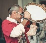 man with a tambourine