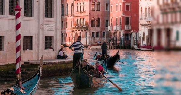 gondolas in the Venice canal