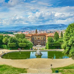 view of palazzo pitti from Boboli gardens