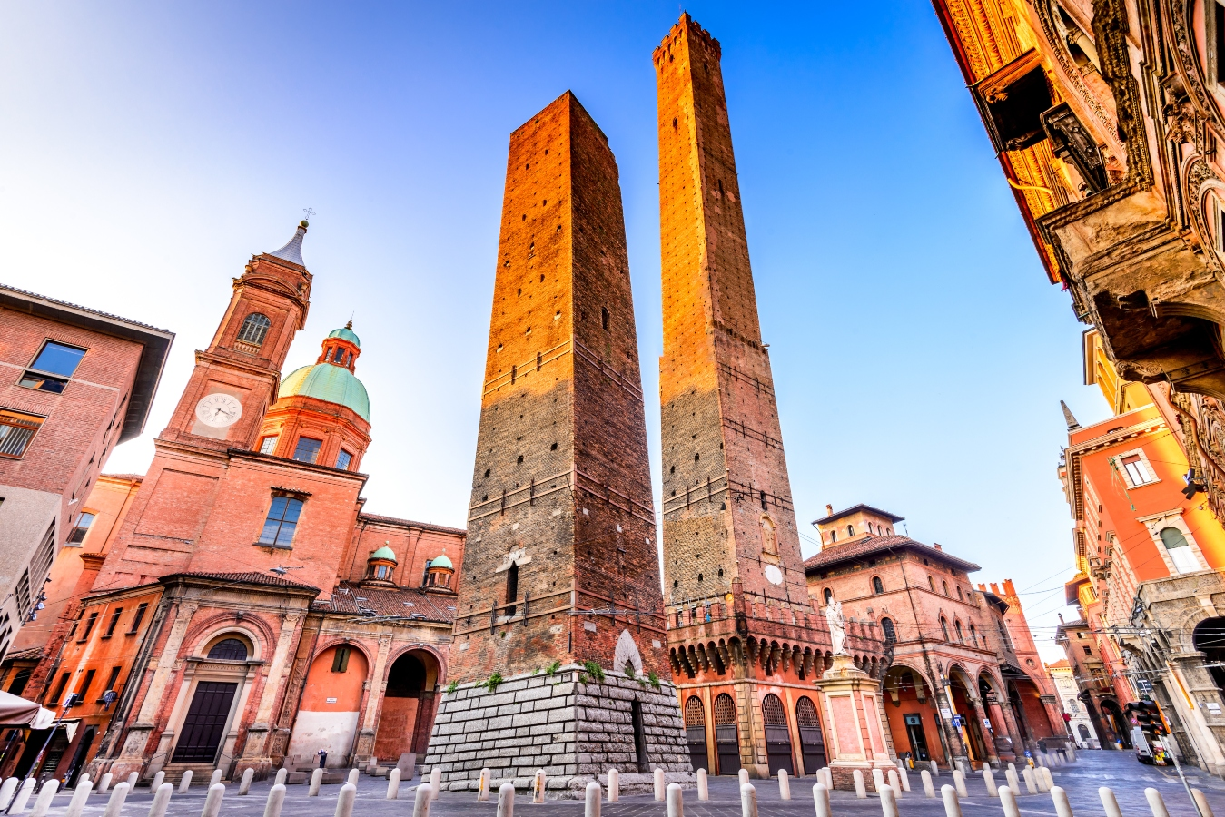 Bologna towers, city of food