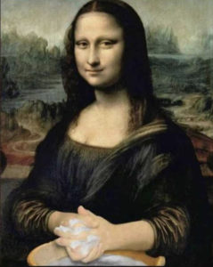Monal Lisa WashingHer Hands Take Care Corona Virus Italy