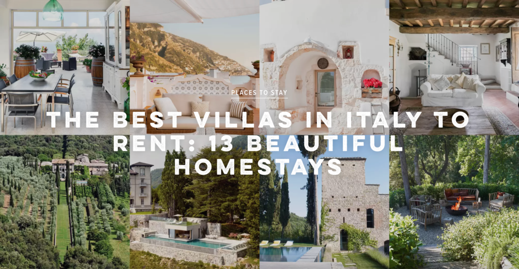 Conde Nast best Italian Villas